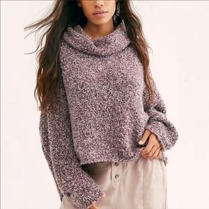 Free People BFF Cowl Neck Sweater NWT Size XL